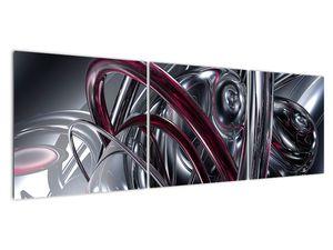 Tablou cu abstracție gri (V020094V15050)