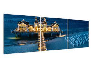 Tablou - hotel pe plajă (V020289V15050)