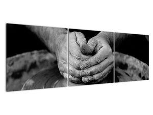 Černobílý obraz - výroba keramiky (V020349V15050)