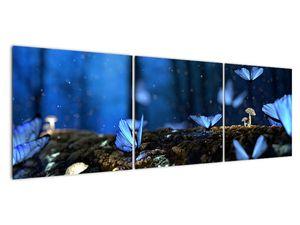 Obraz modrých motýlů (V020434V15050)