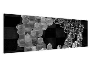 Obraz - černobílé šachy (V020598V15050)