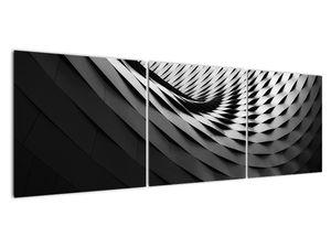 Abstraktní obraz - černobílá spirála (V020667V15050)