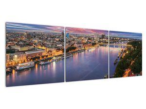 Obraz nočného mesta Bratislavy s riekou (V020706V15050)