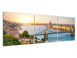 Obraz města Budapešť s řekou (V020712V15050)