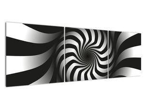 Abstraktní obraz černobílé spirály (V020831V15050)