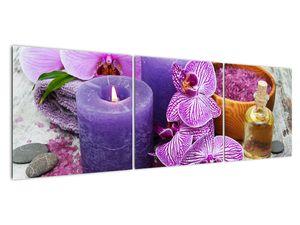 Obraz orchideí a svíček (V020894V15050)