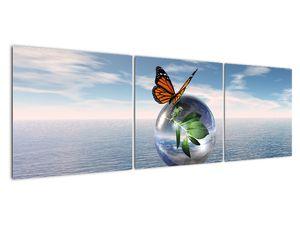 Obraz motýla na skleněné kouli (V021198V15050)