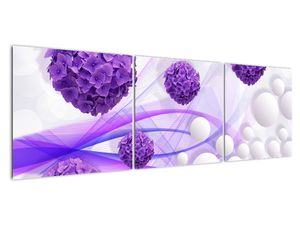 Obraz - Koule, kuličky, květy, ... (V021304V15050)