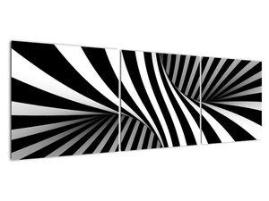 Absztrakt kép zebra csíkokkal (V021960V15050)
