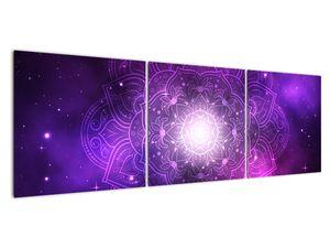 Obraz fialové abstrakce (V022148V15050)