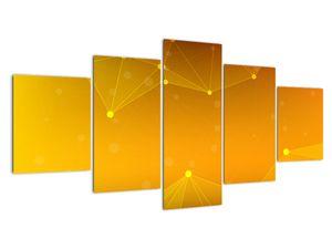 Abstraktní žlutý obraz (V020045V150805PCS)