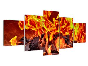 Obraz hořících uhlíků (V020049V150805PCS)