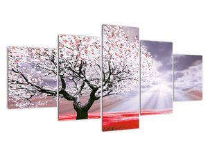 Červený obraz stromu (V020052V150805PCS)