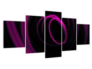 Obraz - fialové čáry (V020055V150805PCS)