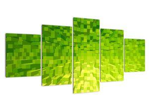 Obraz žlutozelených kostiček (V020057V150805PCS)