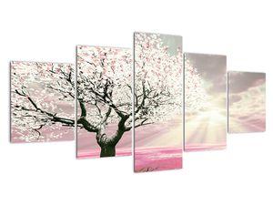Růžový obraz stromu (V020058V150805PCS)