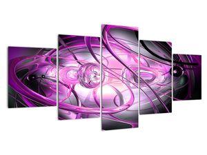 Obraz krásné fialové abstrakce (V020060V150805PCS)