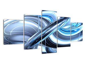 Tablou cu abstracție albastră (V020061V150805PCS)