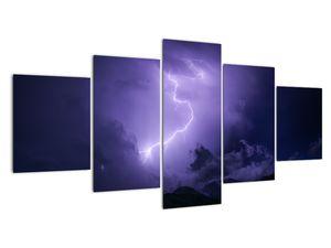 Obraz - fialová obloha a blesk (V020062V150805PCS)