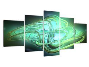 Obraz zelené abstrakce (V020063V150805PCS)