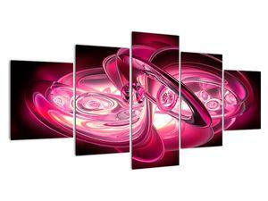 Obraz růžových fraktálů (V020065V150805PCS)
