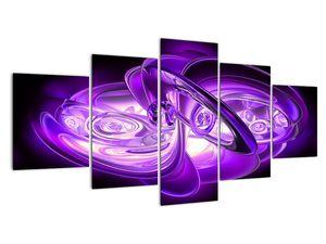 Obraz fialových fraktálů (V020066V150805PCS)