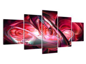 Obraz červených fraktálov (V020069V150805PCS)