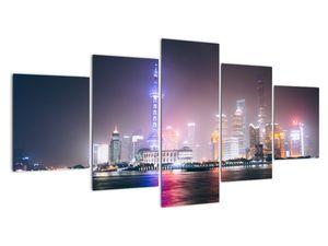 Obraz nočního Šanghaje (V020073V150805PCS)
