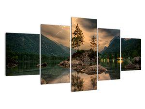 Obraz - jezero v horách (V020080V150805PCS)