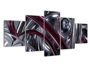 Obraz šedé abstrakce (V020094V150805PCS)