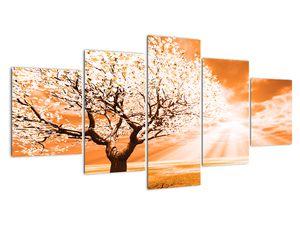 Oranžový obraz stromu (V020095V150805PCS)
