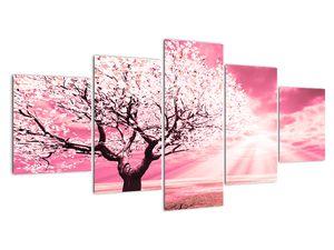 Růžový obraz stromu (V020096V150805PCS)