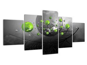Obraz zelených abstraktních koulí (V020103V150805PCS)