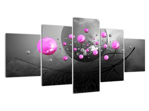 Tablou cu bile roz  (V020105V150805PCS)