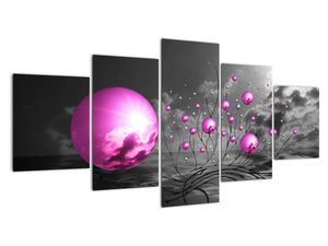 Tablou  bilelor roz (V020108V150805PCS)