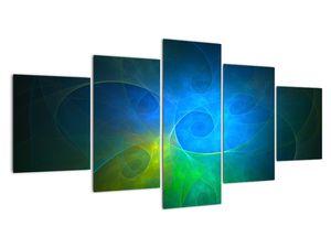Obraz modrej abstrakcie (V020122V150805PCS)