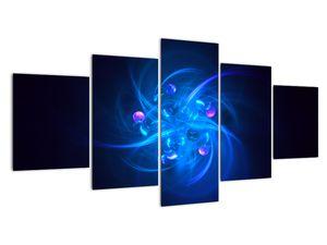 Moderní obraz modré abstrakce (V020137V150805PCS)