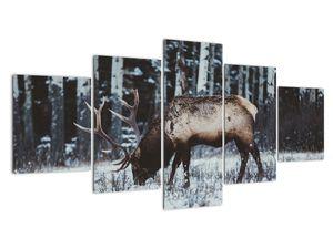 Obraz - jelen v zimě (V020179V150805PCS)