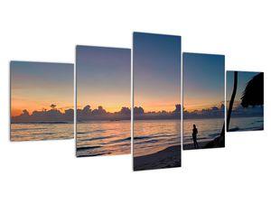 Kép egy nőről a tengerparton (V020204V150805PCS)