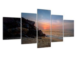 Tablou apusului de soare pe plajă (V020214V150805PCS)
