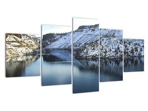 Tablou - peisaj de iarnă cu lac (V020216V150805PCS)