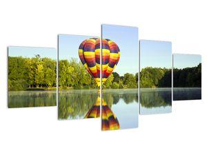 Tablou cu balon cu aer cald pe un lac (V020217V150805PCS)