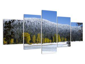 Tablou - munții înzăpeziți iarna (V020219V150805PCS)