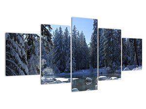 Tablou pădurii înzăpezite (V020221V150805PCS)