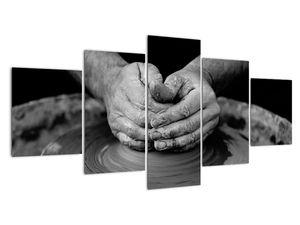 Černobílý obraz - výroba keramiky (V020349V150805PCS)