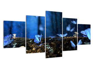 Obraz modrých motýlů (V020434V150805PCS)