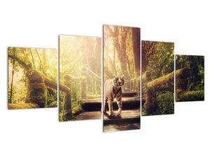 Obraz tygra v džungli (V020479V150805PCS)