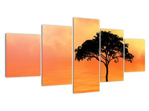 Obraz stromu v západu slunce (V020480V150805PCS)
