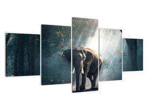 Obraz slona v džungli (V020490V150805PCS)