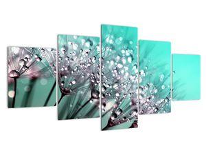 Obraz - orosená rostlina (V020507V150805PCS)